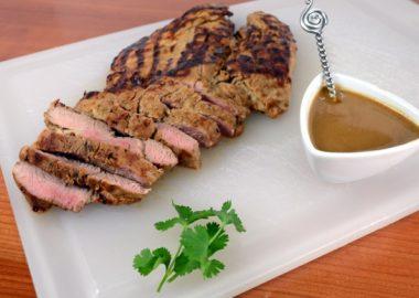 Grilled Asian Pork Tenderloin with Peanut Sauce