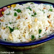 Basmati Rice with Garlic, Pine Nuts, and Fresh Parsley