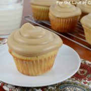 Yellow Cupcakes with Caramel Frosting