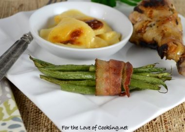 Green Bean Bacon Wrapped Bundles