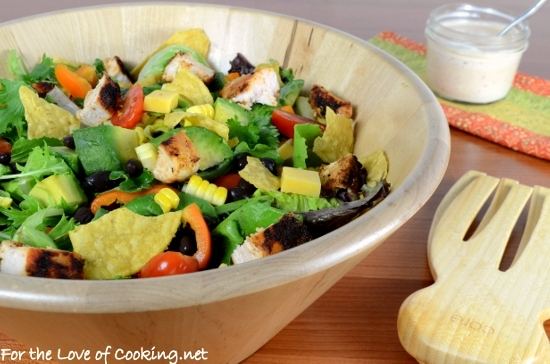 Blackened Chicken Salad with Chipotle Ranch Dressing