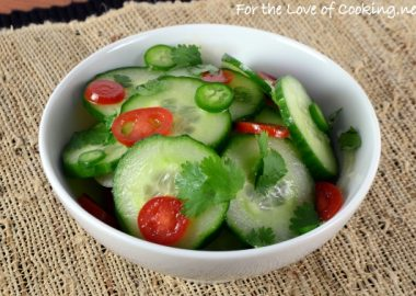 Spicy Asian Cucumber and Tomato Salad with Cilantro