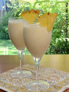 Tropical Smoothie with Pineapple, Coconut, and Banana