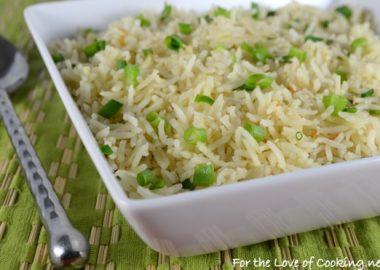 Sesame Garlic Basmati Rice