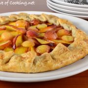 Nectarine and Rainier Cherry Galette