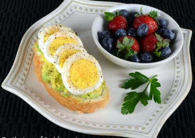 Egg & Avocado Open Faced Sandwich