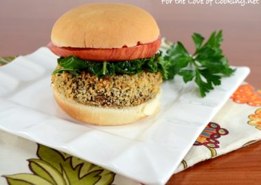 Panko Crusted Portobello Mushroom with Boursin, Braised Kale, and Heirloom Tomato