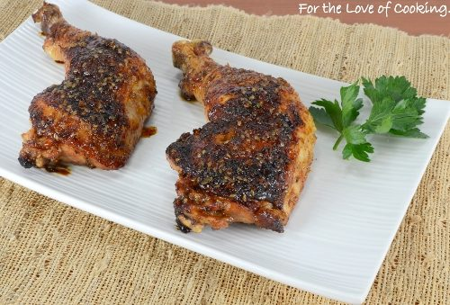 Teriyaki Glazed Chicken Leg Quarters For The Love Of Cooking