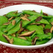 Garlicky Snow Pea and Shiitake Sauté