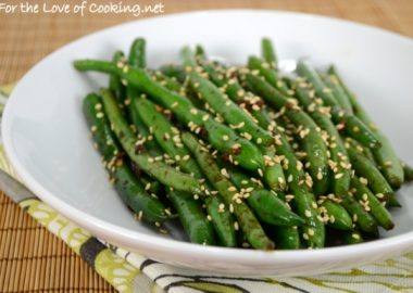 Sesame-Soy Green Bean Sauté