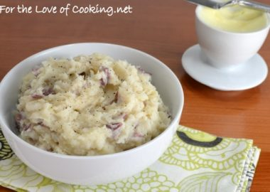 Roasted Garlic Mashed Red Potatoes
