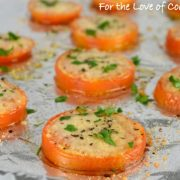 Baked Parmesan Tomato Slices