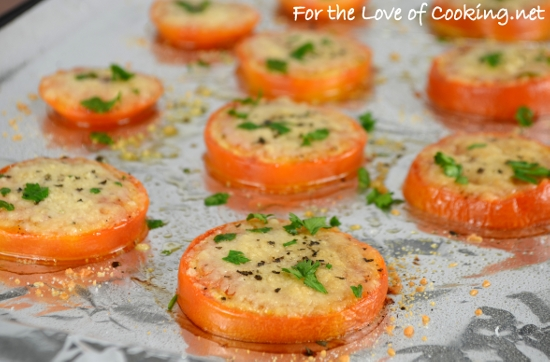 Baked Parmesan Tomato Slices