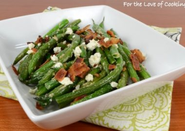 Bacon Boursin Green Beans