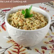 Garlicky Israeli Couscous