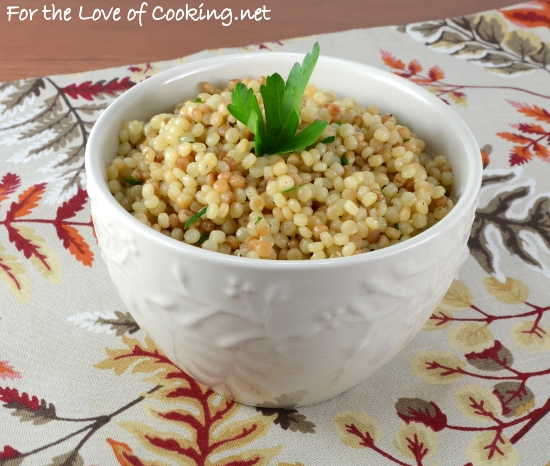 Garlicky Israeli Couscous For The Love Of Cooking