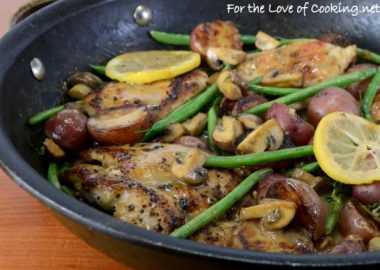 One Pot Dinner ~ Chicken with Potatoes, Green Beans, and Mushrooms