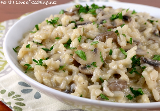 Mushroom Risotto For The Love Of Cooking