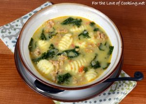 Gnocchi and Sausage Soup with Kale