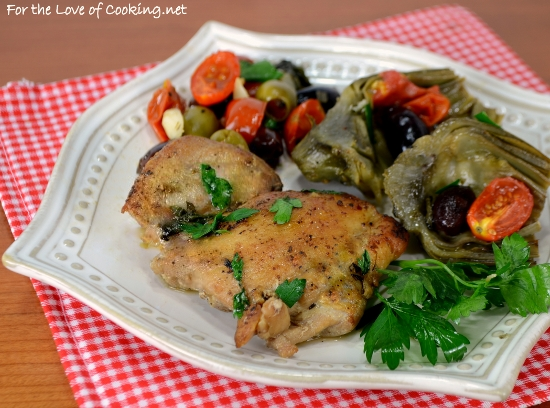 Tuscan Chicken with Artichokes, Tomatoes, and Olives