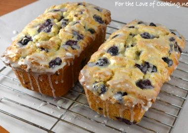 Lemon Blueberry Bread with Lemon Glaze