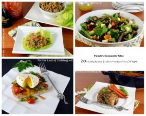 Parade's Community Table ~ 20 Healthy Recipes To Start Your New Year Off Right!
