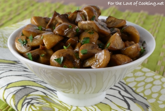 Mushroom Saute With Soy Butter And Garlic For The Love Of Cooking