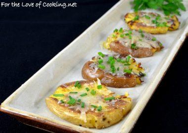 Parmesan Chive Smashed Potatoes