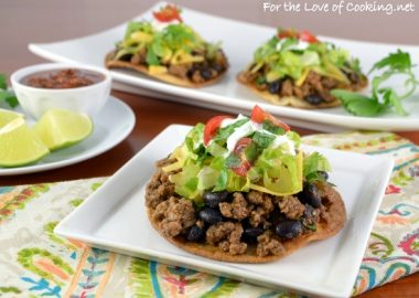 Ground Beef and Black Bean Mini Tostadas