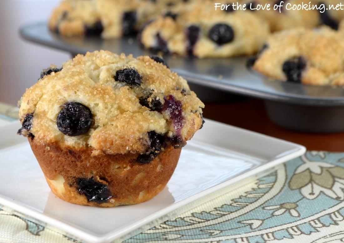 Blueberry Sour Cream Muffins