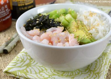 Shrimp Sushi Rice Bowl