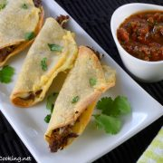 Baked Mini Shredded Beef & Cheese Tacos