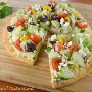 Veggie & Hummus Flatbread