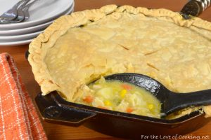 Cast Iron Skillet Chicken Pot Pie