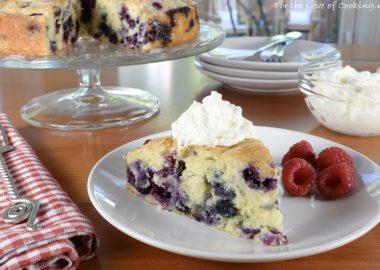 Blueberry Vanilla Bean Cake with Lemon Whipped Cream