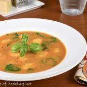 Creamy Tomato Florentine Soup with Gnocchi