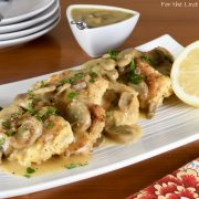 Chicken with White Wine Sauce and Mushrooms