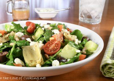 Greek Baby Kale Salad with Farro