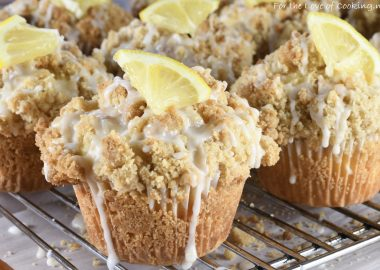 Lemon Crumb Muffins with Lemon Glaze