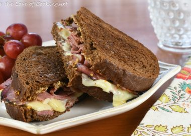 Grilled Gruyere & Pastrami on Dark Rye