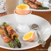 Soft Boiled Eggs with Bacon-Wrapped Asparagus Soldiers