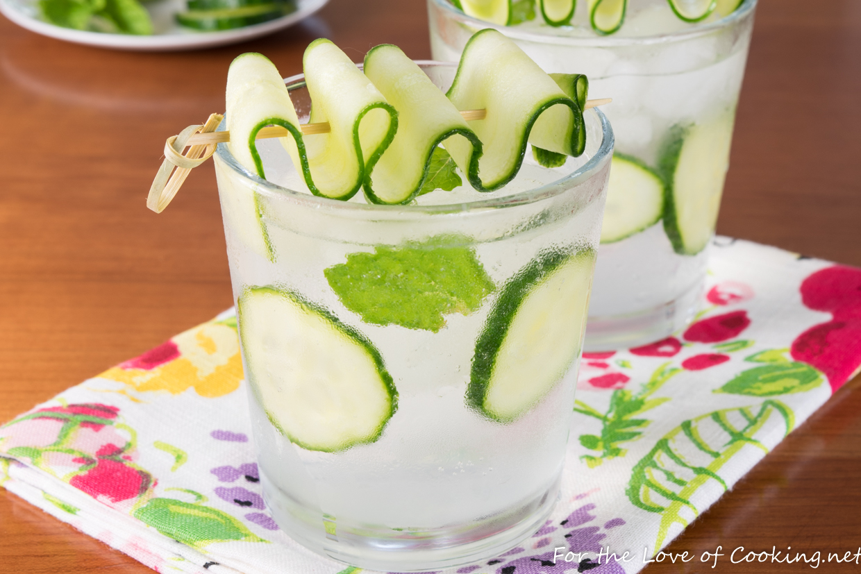 Cucumber Lime Vodka Fizz For The Love Of Cooking