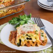 Mushroom and Spinach Lasagna Roll Ups