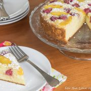 Raspberry-Peach Cake