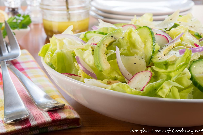 Avocado Lettuce Salad Recipe