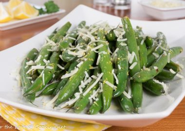 Lemon Butter Green Beans with Parmesan