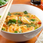 Thai Coconut Curry Shrimp Noodle Soup-
