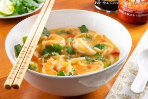 Thai Coconut Curry Shrimp Noodle Soup