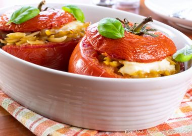 Baked Orzo Stuffed Tomatoes