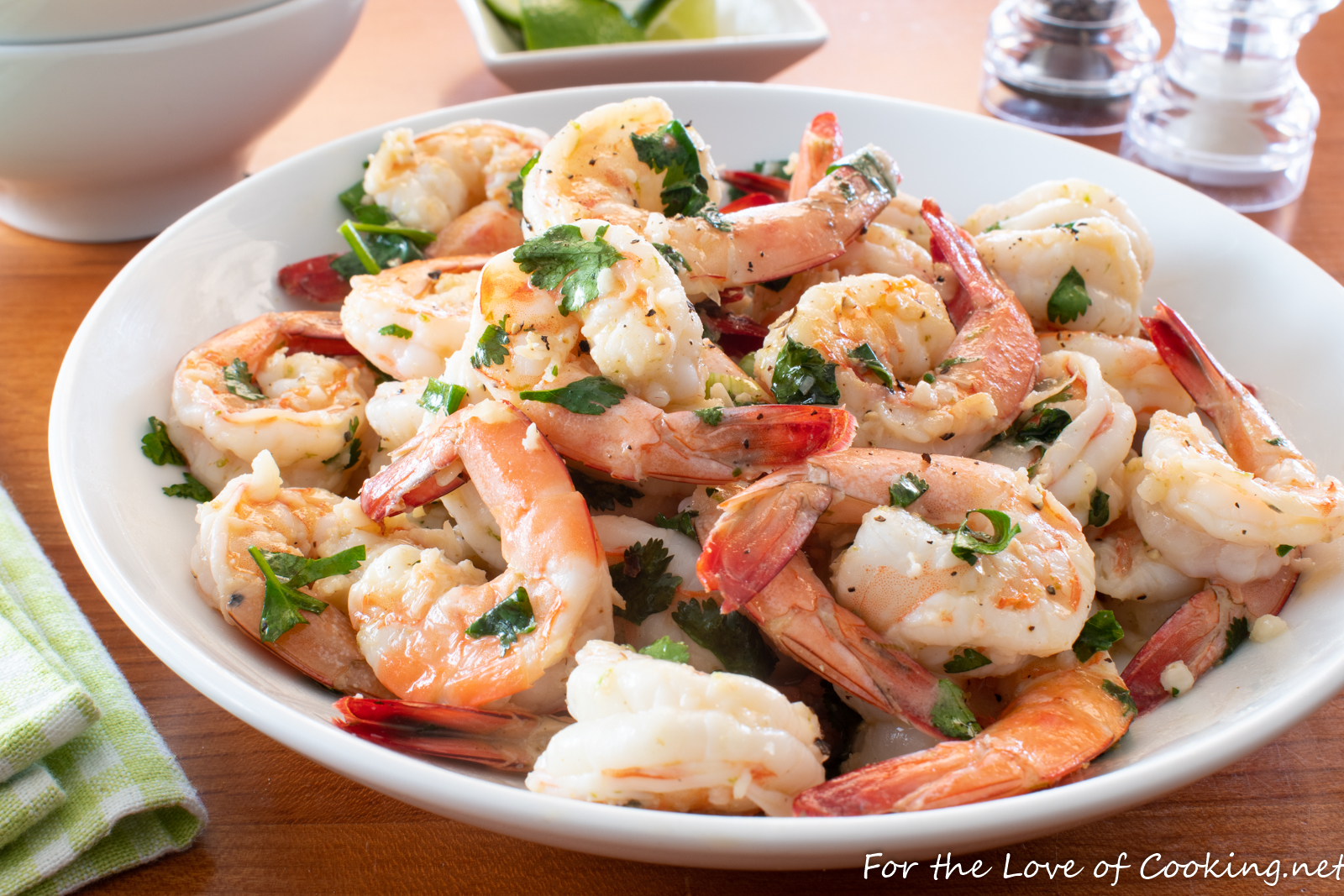 Garlic Butter Shrimp with Lime and Cilantro